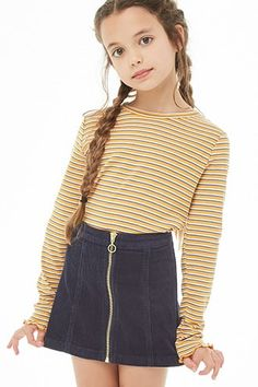 Girls Corduroy Zip Skirt (Kids) The Effective Pictures We Offer You About tween fashion boys A quali Girls Fall Outfits, Cute Outfits For School, Cute Girl Outfits, Little Girl Outfits, Girly Outfits, Cute Clothes For Kids, Preteen Girls Fashion, Girls Fashion Clothes, Teen Fashion Outfits