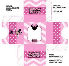 Pretty Minnie in Pink: Free Printable Boxes. Printable Box, Free Printables, Minnie Mouse, Mini Boutique, Pink Parties, Blogger Templates, Disney Mickey, Pretty, Samara