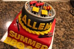 a barbecue cake for your summer parties!