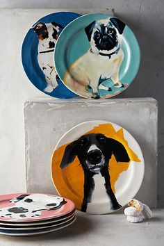Dog-a-Day Dessert Plate - anthropologie.com