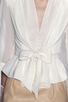 White #bow #Fashion