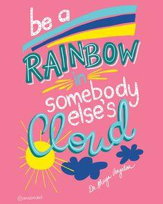 Be a Rainbow   Art Print   Digital Download - Pink