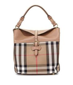 a28be825cc15 BURBERRY  CHECK LEATHER SHOULDER BAG Designer Wallets