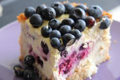 Low Carb Coconut Blueberry Cheesecake