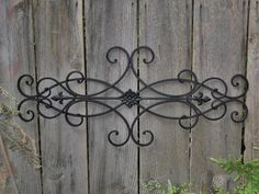 exterior wall art | wall decor indoor outdoor cottage style fleur de lis shabby chic decor ...