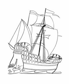 christopher columbus coloring page   history   pinterest ... - Christopher Columbus Coloring Page