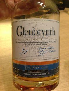Glenbrynth 21YO Speyside single malt scotch whisky. Bottled in 2011. 1st release.