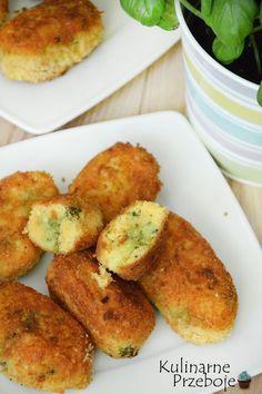 Krokiety ziemniaczane z brokułami, Krokiety ziemniaczano-brokułowe, krokiety z ziemniaków i brokuła