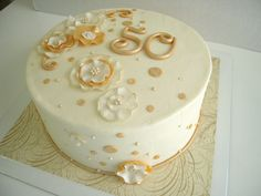 Dawn's Divine Delights: 50th Anniversary Cake