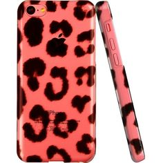 ESR Animal Kingdom Series Hard Clear Back Cover Snap on Case for... ($8.80) ❤ liked on Polyvore featuring accessories, tech accessories, phone cases, cases, iphone, iphone cases, leopard iphone case, iphone cover case, iphone cell phone cases and apple iphone cases