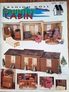 Edwardian Costumes, Log Cabin Furniture, Annie's Attic, Dresser With Mirror, Mirrored Dresser, Ladder Back Chairs, Brass Bed, Leaf Table, Plastic Canvas Patterns