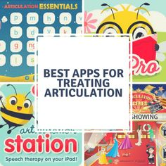 Articulation Station – I mention this in my other post about speech-therapy apps in general. This app is a bit expensive but worth every penny! There is a lite version you can try out for fre… Speech Pathology Activities, Articulation Therapy, Articulation Activities, Speech Language Therapy, Speech Therapy Activities, Language Activities, Speech And Language, Fun Projects For Kids, Kids Fun