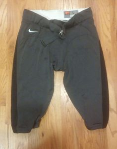 Mens Nike Football Pants Dark Gray W/Black Strip Large #Nike #Pants