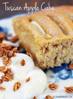 Tuscan Apple Cake, featuring @Chobani Apple Cinnamon greek yogurt.    No Sugar Sweet Life