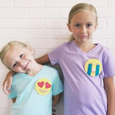DIY Emoji Shirts - Simple Simon and Company Diy And Crafts Sewing, Crafts For Kids, Sewing Hacks, Sewing Tutorials, Sewing Tips, Emoji Shirt, Simple Shirts, 9 Year Olds, Inspiration For Kids