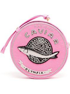 OLYMPIA LE-TAN Caviar Embroidered Felt Clutch