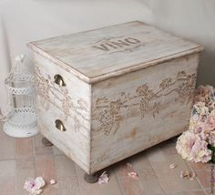 Decoupage, Craft Room Storage, Interior Decorating, Decorating Ideas, Hope Chest, Diy Furniture, Decorative Boxes, Wood, Design