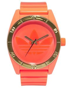 Enlarge Adidas Santiago Orange Neon Watch- ASOS
