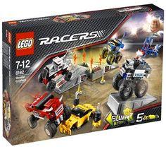 Lego Racers Monster Crushers - 4 potężne Monster Trucki. Ustaw dla nich przeszkody, rampy, wrak samochodu i poznaj ich moc!