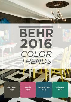 104 best behr 2016 color trends images on pinterest color trends