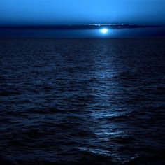Sea moonlight