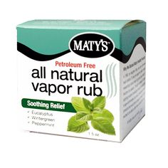 The #1 Selling All Natural Vapor Rub in America.  Our drug-free vapor rub provides cough and nasal relief while strengthening your immune system.  We've added soothing notes of Eucalytpus, Wintergreen and Peppermint, to help open nasal passages and relieve congestion.