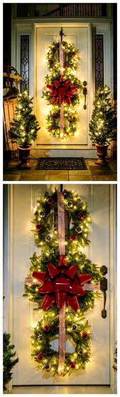 How to Make A Christmas Wreath Trio ~ DIY Triple Hanging Wreaths for Christmas Decor