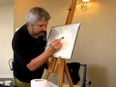Watercolour Tip from PETER WOOLLEY: Sandpaper Seaspray - YouTube