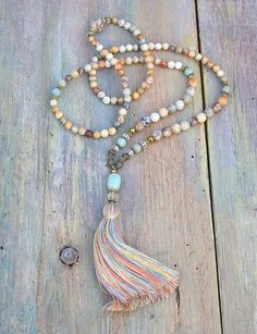 Mala necklace made of 6 and 8 mm - 0.236 and 0.315 inch, beautiful faceted agate…