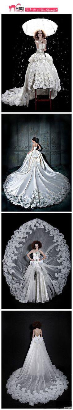 OMG  the gorgeous wedding dress @