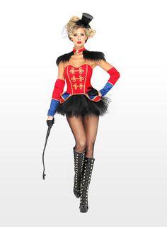 Sexy Zirkus Dresseurin Kostüm - Verführerisches Zirkus Kostüm mit glamourösen Details - maskworld.com