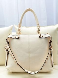 New Arrival Rivets Pure Color One Shoulder Bag is special design for sweet girls.The Rivets Print design will make you more fashion.We Can Offer You a Cheap Price.It is a great addition in your wardrobe.
