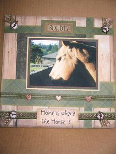 Home is where the Horse is...like the title! - Scrapbook.com