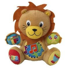 """Baby Einstein Press and Play Pal Toy, Lion. Product Measures: 5.5""""L x 3.75""""d x 7""""h. Recommended Ages: 3 months & up."""