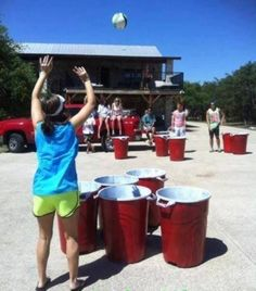 Big ball beer pong