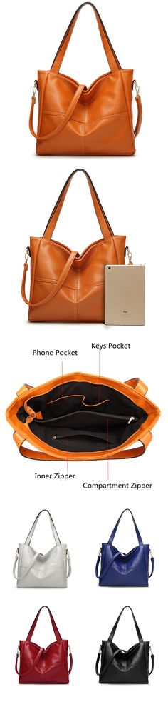Women PU Leather High-end Handbags Retro Shoulder Bags High End Handbags d03bca54d8250