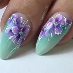 64 ideas for gel manicure colors nail tutorials Flower Nail Designs, Flower Nail Art, Nail Art Designs, Beautiful Nail Art, Gorgeous Nails, Spring Nails, Summer Nails, Cute Nails, Pretty Nails