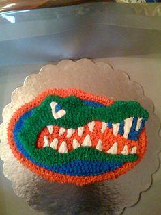 UF Gator Cake @Lori Bearden Jill Hirschi  it's not a bulldog but ... Lol