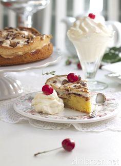 Delicious meringue apple cake Apple Cake, Pavlova, Meringue, Panna Cotta, Favorite Recipes, Cakes, Breakfast, Apples, Ethnic Recipes