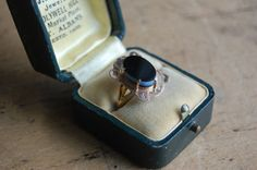 Victorian banded agate mourning ring with by jeanjeanvintage