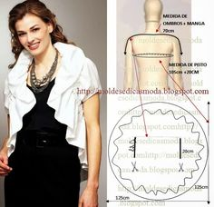 Fashion Templates for Measure: BOLERO Frill / frill.