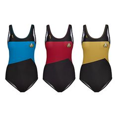 Star Trek:TNG One-Piece Swimsuit. Imagine how good you will look lounging next to the Sheraton Hotel pool wearing this.