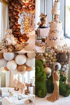 Take a peek into Malika Haqq's start studded celebrity baby shower. Gorgeous tones of brown, tan, creme and beige were the color scheme of the bear themed event. Read More… - Malika Haqq's Bear Themed Baby Shower Baby Shower Decorations Neutral, Boy Baby Shower Themes, Baby Shower Gender Reveal, Baby Shower Parties, Baby Shower Balloons, Celebrity Baby Shower Dresses, Celebrity Baby Showers, Celebrity Babies, Deco Baby Shower