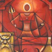Gallery of Chennai based indian contemporary artist Cheenu Pillai Indian Artwork, Indian Art Paintings, Durga Painting, Oil Painting Abstract, Indian Contemporary Art, Contemporary Artists, Om Namah Shivaya, Cubist Art, Hindu Art