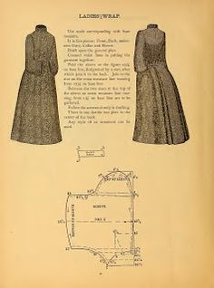 What We Did When The Power Went Out (Sewing In Walden): Ladies' Wrap 1888