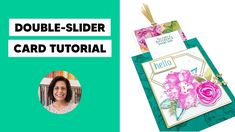 🔴 Learn How to Make a Beautiful Fun Fold Card with Lisa's Stamp Studio! - YouTube 3d Cards, Easel Cards, Fancy Fold Cards, Folded Cards, Special Birthday Cards, Slider Cards, Card Tutorials, Video Tutorials, Interactive Cards