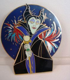 """Mickey's All American Pin Trading Festival"""" Maleficent"""" SPINNER Pin LE #disney #maleficent #disneypin"""