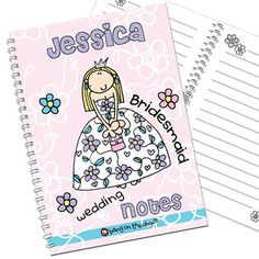 Personalised Bang on the Door Wedding Girls Notebook  from Personalised Gifts Shop - ONLY £7.95
