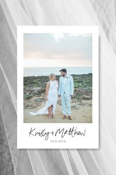 Photo Wedding Thank You Card | Beach Theme Weddings | iFloyd Photography | For the Love of Stationery