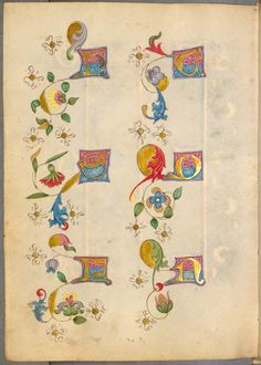 Gothic Illuminated Sketchbook 'Spätgotisches Musterbuch des Stephan Schriber', 1494-set on Flickr